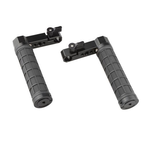 CAMVATE Adjustable Rubber Handgrip L Type For Monitor Cage Rig (A Pair)