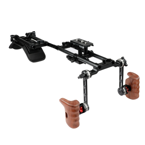 CAMVATE Pro Camcorder Shoulder Mount HDSLR Camera Support Rig With ARRI Rosette Handgrips