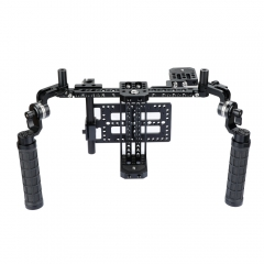 CAMVATE Camera Director's Monitor Cage Rig With ARRI Rosette Rubber Grips
