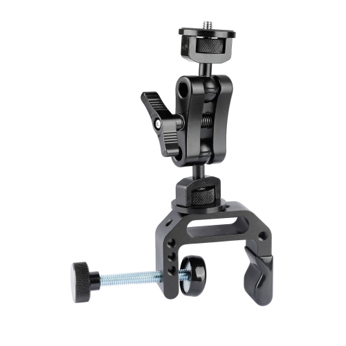 "CAMVATE Universal C Clamp Desk Mount & Ball Head Extension Arm Double-ended 1/4""-20 Screw Adapter"