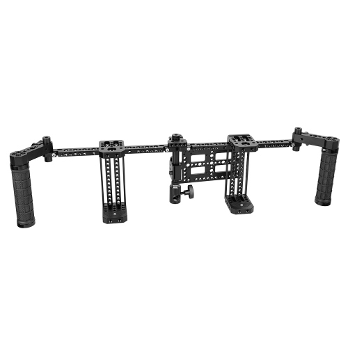 "CAMVATE 7"" Dual Director's Monitor Cage Rig With Rubber Grips"