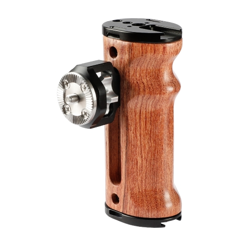 CAMVATE Select Wooden Side Handle With ARRI Rosette M6 Mount For DSLR Camera / Camcorder Cage Rig