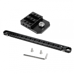 "CAMVATE 15mm Cheese Bar & Cheese Plate With 1/4"" & 3/8"" Mounting Points For Camera Monitor Cage"