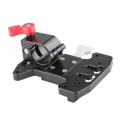 CAMVATE Quick Release V-Lock Mounting Battery Plate With DJI 25mm Rod Clamp Integrated