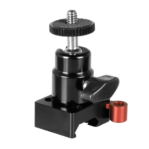 "CAMVATE QR NATO Clamp + Mini Ball Head 1/4""-20 Screw Mount (Black Knob)"