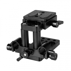 CAMVATE ARCA Swiss Style QR Mount Base With Tripod Baseplate & 15mm LWS Rod Clamp