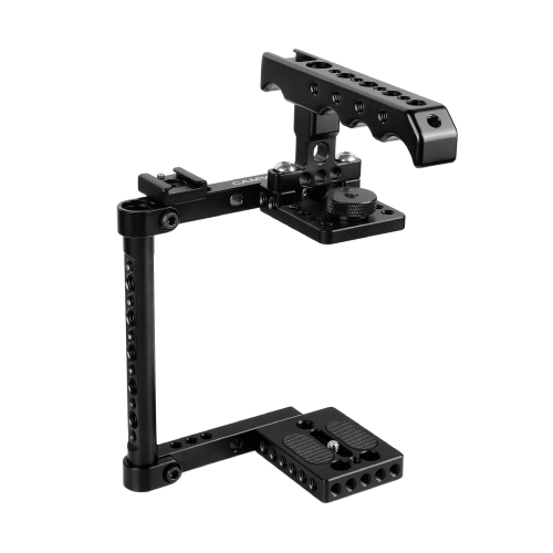 CAMVATE Camera Cage Kit With Top Cheese Handle & Shoe Mount For Canon 600D 70D 80D (Left-hand Mounted)