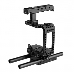 CAMVATE DSLR Camera Half Cage Kit With Top Cheese Handle & QR Baseplate For Sony A7s A7RII A7s2 A7sII A7r3 A73 A9