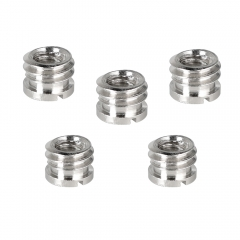 "CAMVATE 1/4""-20 Female To 3/8""-16 Male Micro Screw Adapter (5 Pieces)"
