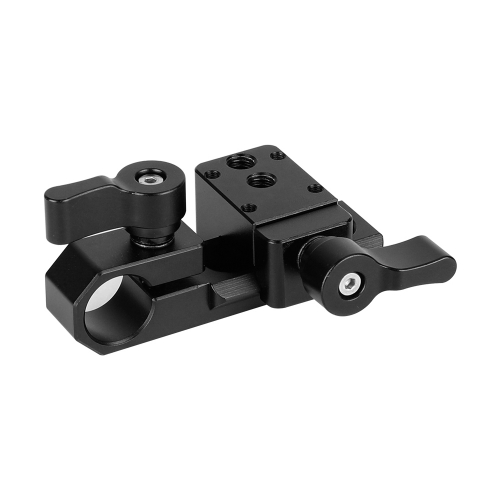 CAMVATE Single 15mm Rod Clamp & NATO Clamp (Black Wingnuts) for GH5, 5DMarkIII Rig