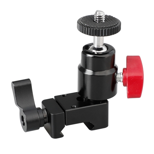 "CAMVATE 1/4""-20 Mini Ball Head With NATO Clamp For DSLR Camera Monitor"