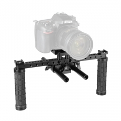 CAMVATE Open-ended Camera Cage Kit With ARCA QR Plate & 15mm LWS Rod System & Rubber Grips