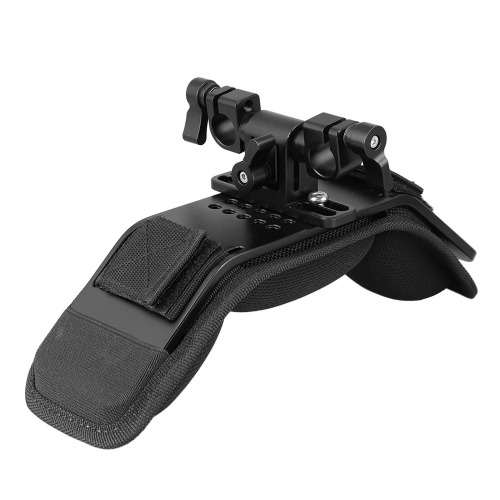 CAMVATE Comfortable Shoulder Pad With 15mm Railblock For Video Camcorder / DSLR Camera Shoulder Mount Rig