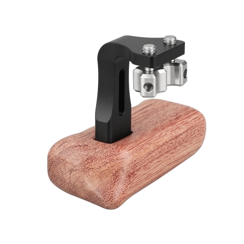 "CAMVATE Reversible Wooden Hand Grip Medium Size With 1/4""-20 Thumbscrew Knob (Left Side)"
