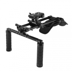 CAMVATE Shoulder Mount Kit With Manfrotto QR Plate & 15mm Railblocks Supporting System For DV Camcorder