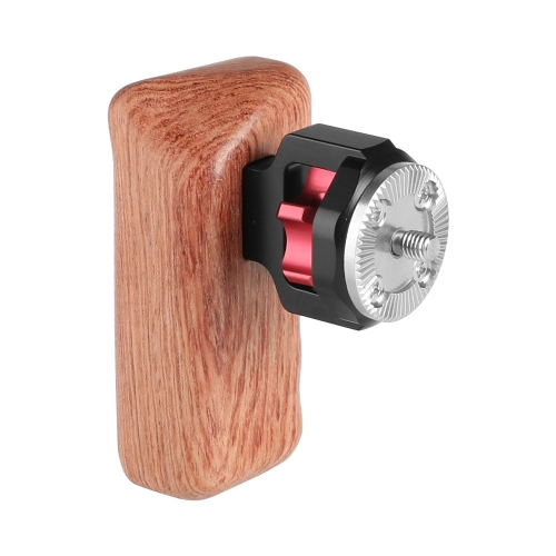 CAMVATE Universal Wooden Handgrip With M6 Rosette Connection For Camera Cage Kit (Left Hand)