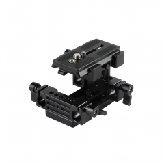 CAMVATE Manfrotto Quick Release Plate Connect Adapter With Double 15mm Rod Clamp For DSLR Camera Cage Kit
