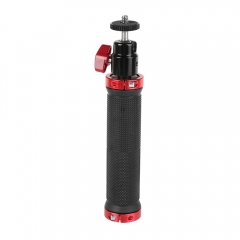 "CAMVATE Rubber Hand Grip With 1/4"" Ball Head Mount For Photographic Accessory (Red)"