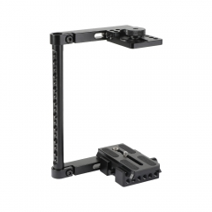 "CAMVATE Simple Half Cage Rig With Manfrotto Quick Release Baseplate 1/4""-20 Mounting Stud For DSLR Cameras"