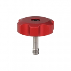 "CAMVATE 1/4""-20 × 6mm Thumbscrew Replacement Rotary Knob For Camera Accessory Assembly (Red)"