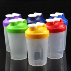 BPA Free Gym 400ml Plastic Protein Shaker Bottle