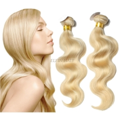 【14A 1PC】12-30 Inch Grade #613 Honey Blonde Body Wave Virgin Hair Weave 100g/bundle