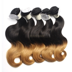 12-30 Inch 6A Grade #1B-27 Two Tone Ombre Body Wave Remy Hair Weave 100g/bundle