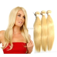 【14A 1PC】12-30 Inch #613 Honey Blonde Straight Virgin Hair Weave 100g/bundle
