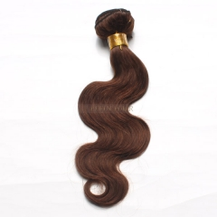 12-26 Inch #4 Brown Body Wave Virgin Hair Weave 100g/bundle