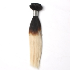12-26 Inch #1b/60 Ombre Straight Remy Hair Weave 100g/bundle