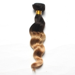 12-26 Inch #1b/27 Ombre Loose Wave Remy Hair Weave
