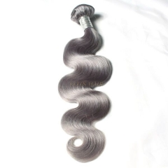 #50 Gray Hair Body Weave 12-26 Inch Thickness Bundle