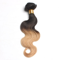 12-26 Inch #1b/27 Ombre Body Wave Remy Hair Weave 100g/bundle