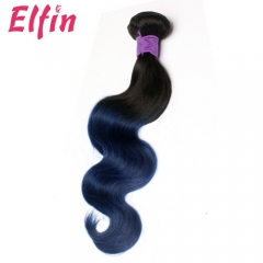 12-26 Inch #1b/ blue Ombre Body Wave Brazilian Remy Hair Weave 100% Human Hair Extension