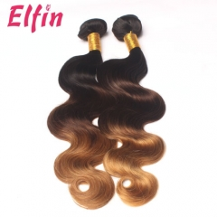 12-26 Inch Three Tone Ombre #1b/#4/#27 Body Wave Brazilian Human Hair Extension Remy Hair Weave