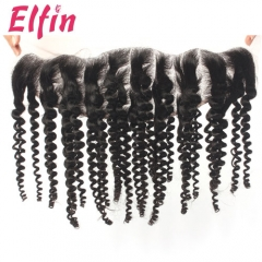 14A 13x4'' Lace Frontal Closure Kinky Curly 130% Density Big Lace Closure 1Pcs Free Shipping Human Hair weave Kinky Curly Big Closure
