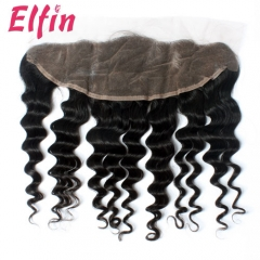 14A 13x4'' Lace Frontal Closure Deep Wave More wavy 130% Density Big Lace Closure 1Pcs Free Shipping Human Hair Big Closure