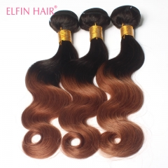 #1B-#30 Ombre Body Wave 3 Bundles Lot Two Tone Ombre Brazilian Body Wave Hair Extension