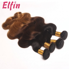 3 Tone Ombre 1B/4/27 Brazilian Body Wave Hair 3 Bundles Free Shipping Ombre Brazilian Human Hair
