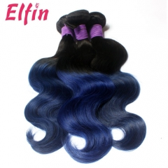 1B/Blue Brazilian body wave On sale Now 3 Bundles Free Shipping Two Tone Brazilian Hair Weave No Shedding