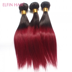 3 Bundles Straight Hair 1B-99j Ombre Brazilian Hair Straight Free Shipping