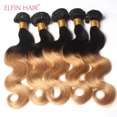 Brazilian Ombre hair body wave 3 bundles Lot Two Tone 1b-27 Body Wave Brazilian Hair Weave
