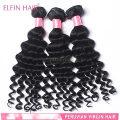【13A 3PCS】Peruvian Virgin Deep Wave Unprocessed Human Hair Grade 13A Free Shipping