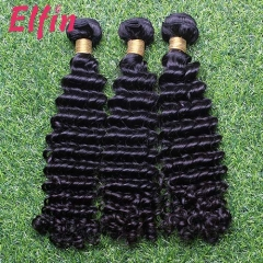 【14A 3PCS】+Free Shipping Brazilian Deep Wave Hair Virgin Soft Hair BEST QUALITY 100% Human Hair Extensions