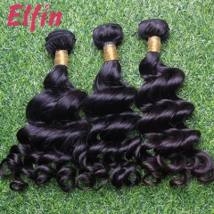 【14A 3PCS】Malaysia Loose Curl Free Shipping Virgin Hair BEST QUALITY 100% Human Hair Extensions