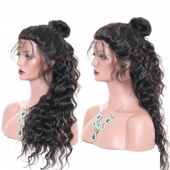 13A 220%/180%/150% Preplucked Glue-less Loose curly Wig Elfin Full Lace Wig Virgin Human Customize Wig 7 working days