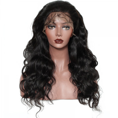 7A Top Quality Hair 150% Density Lace Frontal Wig Body wave Free Shipping