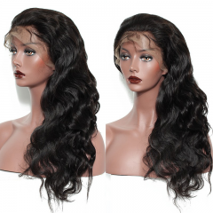7A Elfin 360 Lace Frontal Wig Body Wave 150% Density Virgin Human Hair Free Shipping