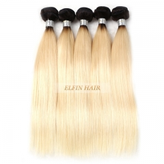 Elfin Best Russian T1B/#613 Straight Hair Ombre Blonde Hair Customize time 7 days