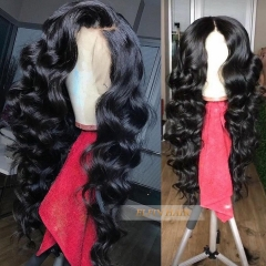 13A Top Quality Hair 13x4 150% Density Loose Wave Lace Frontal Wig Free Shipping